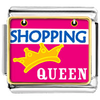 Shopping Queen Italian Charms Bracelet Link