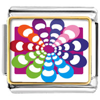 Italian Charms - groovy hypnotic multicolored italian charms bracelet link photo italian charm Image.