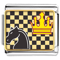 Italian Charms - chess game italian charms bracelet link photo italian charm Image.