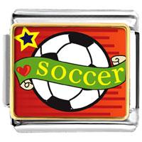 Italian Charms - heart soccer sport italian charms photo italian charm Image.