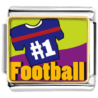 Italian Charms - number 1  football italian charms bracelet link photo italian charm Image.