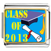 Italian Charms - class of 2008  graduation italian charms bracelet link photo italian charm Image.