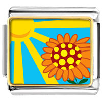 Italian Charms - sunflower in sunlight italian charms bracelet link photo italian charm Image.