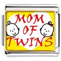 Italian Charms - mom of twins italian charms bracelet link photo italian charm Image.
