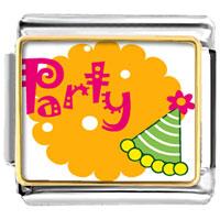 Italian Charms - party celebration hat italian charms bracelet link photo italian charm Image.