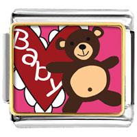 Italian Charms - baby heart bear italian charms photo italian charm Image.