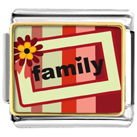 Italian Charms - family flower frame italian charms bracelet link photo italian charm Image.
