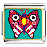 Italian Charms - animal photo colorful butterfly italian charms bracelet link photo italian charm Image.