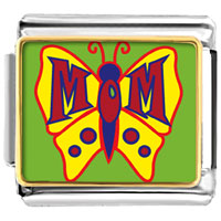 Italian Charms - animal photo mom on butterfly italian charms bracelet link photo italian charm Image.
