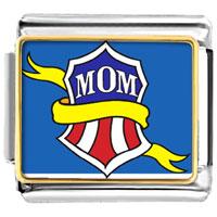 Italian Charms - mom with yellow ribbon italian charms bracelet link photo italian charm Image.