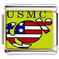 Italian Charms - american usmc sailor flag italian charms bracelet link photo italian charm Image.
