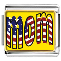 Italian Charms - american mom flag italian charms bracelet link photo italian charm Image.
