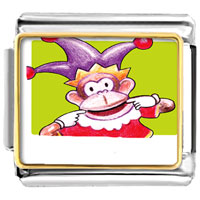 Italian Charms - joker monkey animals italian charms bracelet link photo italian charm Image.