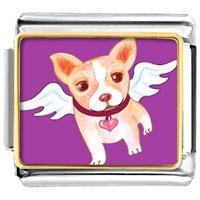Italian Charms - chihuahua dog from heaven animal photo valentine hearts italian charms bracelet link photo italian charm Image.