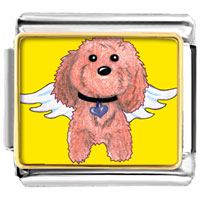 Italian Charms - brown dog from heaven italian charms photo italian charm Image.