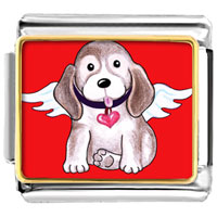 Italian Charms - dog from heaven animal photo valentine hearts italian charms bracelet link photo italian charm Image.