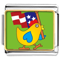 Italian Charms - american duck animal photo flag italian charms bracelet link photo italian charm Image.