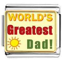Italian Charms - world' s greatest dad italian charms bracelet link photo italian charm Image.