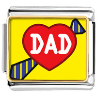 Italian Charms - love dad gift photo italian charm Image.
