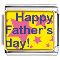 Italian Charms - happy father' s day star italian charms bracelet link photo italian charm Image.