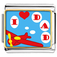 Italian Charms - i love dad italian charms photo italian charm Image.