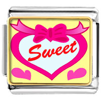Italian Charms - sweet hearts valentine italian charms bracelet link photo italian charm Image.
