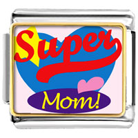 Italian Charms - super mom valentine hearts italian charms bracelet link photo italian charm Image.