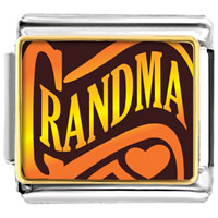 Italian Charms - grandma heart photo italian charm bracelet Image.