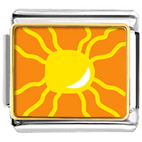Italian Charms - bright yellow sun italian charms bracelet link photo italian charm Image.