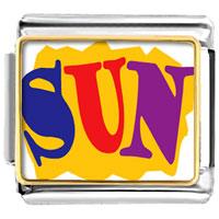 Italian Charms - summertime sun italian charms bracelet link photo italian charm Image.