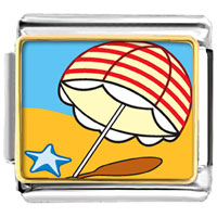 Italian Charms - beach umbrella italian charm bracelet photo italian charm Image.