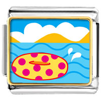 Italian Charms - donut in water italian charms bracelet link photo italian charm Image.