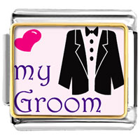 Italian Charms - heart my groom italian charms photo italian charm Image.