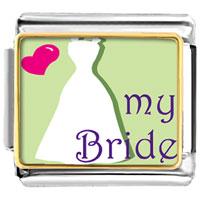 Italian Charms - heart my bride italian charms photo italian charm Image.