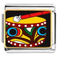 Italian Charms - drum musical italian charm bracelet bracelet link photo italian charm Image.