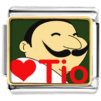 Italian Charms - tio heart person italian charm bracelet photo italian charm Image.