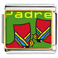Italian Charms - padre colorful boots italian charm bracelet bracelet link photo italian charm Image.