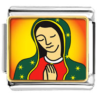 Items from KS - bracelet our lady of guadalupe religious italian charms link photo italian charm Image.