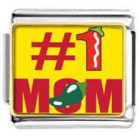Italian Charms - spicy #1  mom food italian charms bracelet link photo italian charm Image.
