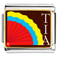 Italian Charms - multicolored tia and fan italian charms bracelet link photo italian charm Image.