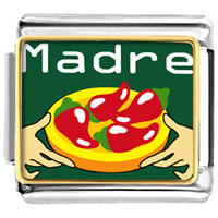Italian Charms - madre chili peppers food italian charms bracelet link photo italian charm Image.