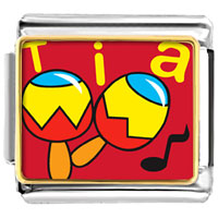 Italian Charms - tia music instrument musical italian charms bracelet link photo italian charm Image.