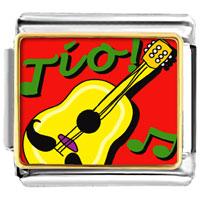 Italian Charms - tio guitar music musical italian charm bracelet bracelet link photo italian charm Image.