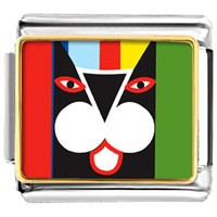 Italian Charms - colorful artistic cat photo animal themed work leisure italian charms bracelet link photo italian charm Image.