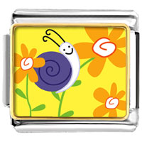 Italian Charms - animal photo happy flower snail italian charms bracelet link photo italian charm Image.