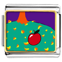 Italian Charms - autumn fall apple food italian charms bracelet link photo italian charm Image.