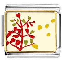 Italian Charms - autumn tree italian charms bracelet link photo italian charm Image.