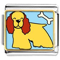 Italian Charms - cocker spaniel dog animal photo italian charms bracelet link Image.