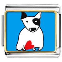 Italian Charms - bull terrier dog animal photo italian charms bracelet link Image.