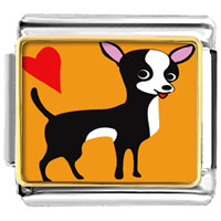 Italian Charms - chihuahua dog animal photo italian charms bracelet link Image.